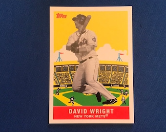 2007 Topps Flashback Fridays / #FF5 / David Wright / Mets / Vintage Baseball Card / Get Lucky Vintage