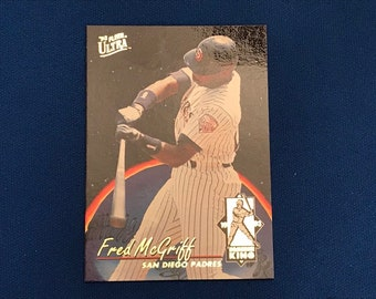 1993 Fleer Ultra Homerun Kings #4 Fred McGriff San Diego Padres Baseball Trading Card Vintage Sports Memorabilia Collectibles