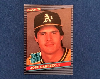 1986 Donruss #39 Jose Canseco Rookie Card RC '86 Baseball Card Trading Card Vintage Sports Memorabilia Collectibles