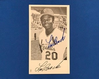 Lou Brock Signed Autographed Photograph GAU St. Louis Cardinals St. Louis Cardinals Baseball