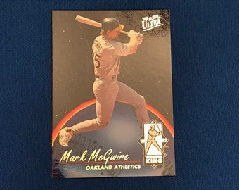1993 Fleer Ultra Homerun Kings / #2 / Mark McGwire / Oakland Athletics / Hall of Fame / HOF / Vintage Baseball Card / Get Lucky Vintage