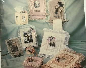 Plastic Canvas Craft Book / Cherished Keepsakes Plastic Canvas Enchantment / Vintage Craft Supply / Get Lucky Vintage