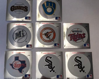1991 Fleer Team Logo Stickers 1988 Fleer Carded Stickers 1990 Upper Deck Hologram Stickers Baseball Vintage Sports Memorabilia Collectibles