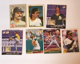 Lot of 7 / Dennis Eckersley / Hall of Fame  / HOF / Vintage Baseball Card / Get Lucky Vintage