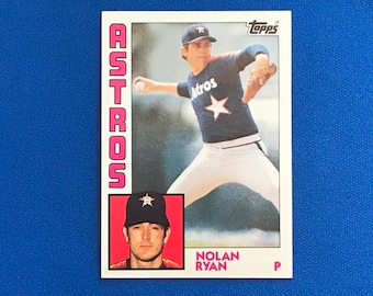 1984 Topps #470 Nolan Ryan Astros HOF Baseball Trading Card Vintage Sports Memorabilia Collectibles