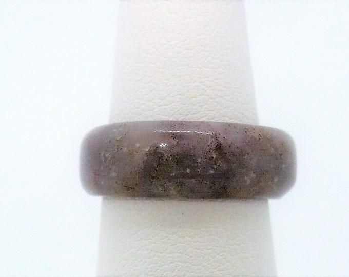 sz 6 1/4 Stone Agate Gemstone Band Ring