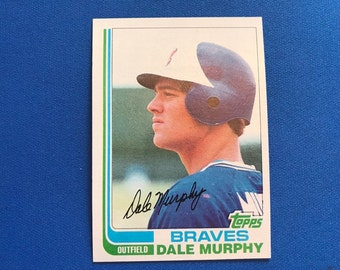1982 Topps #668 Dale Murphy Braves Baseball Trading Card Vintage Sports Memorabilia Collectibles