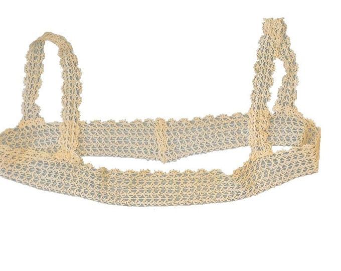 1920's Vintage Edwardian Handmade Crochet Lace Yoke Collar