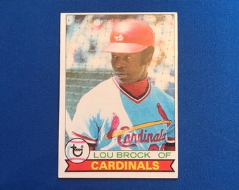 1979 Topps #665 Lou Brock HOF Cardinals Baseball Trading Card Vintage Sports Memorabilia Collectibles