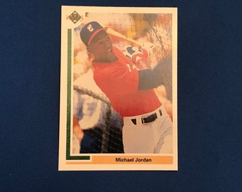 1991 Upper Deck #SP1 Rookie Card Michael Jordan Chicago White Sox RC Baseball Trading Card Vintage Sports Memorabilia Collectibles