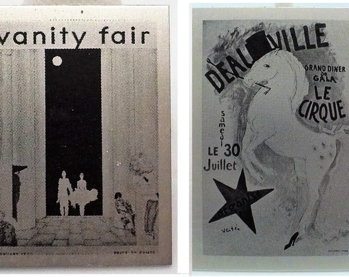 Vintage Vanity Fair Magazine Cover DeauVille La Cirque Cover Illustration Pin Brooch