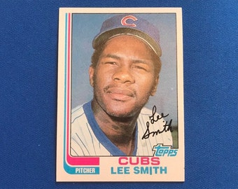 1982 Topps #452 Lee Smith Rookie Card RC HOF Baseball Trading Card Vintage Sports Memorabilia Collectibles