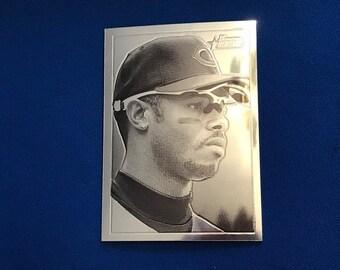 2001 Bowman Heritage Chrome #BHC39 Ken Griffey Jr Cincinnati Reds Baseball Trading Card Vintage Sports Memorabilia Collectibles