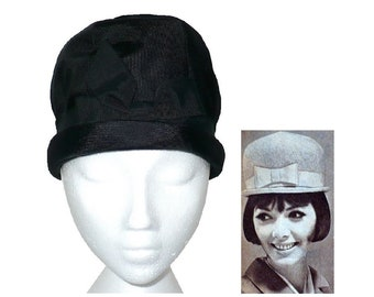 What Modness Is This? 1960's Vintage Domed Cloche Hat 60's does 20's Ladies' Bowler Hat by Luci Puci