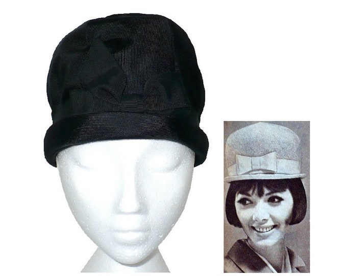 """1960's Does 1920's Vintage Domed Cloche Hat Ladies' Bowler Hat """"Luci Puci"""""""