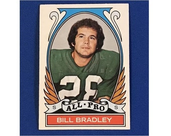 1972 Topps #286 All-Pro Bill Bradley Highlights of 1971 Football Card Trading Card Vintage Sports Memorabilia Collectibles