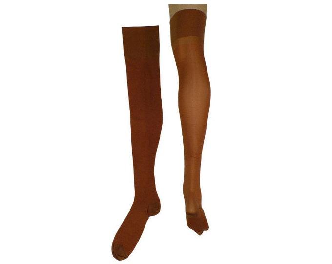 1940's Vintage Thigh High Rayon Stockings  RHT 10 x 25