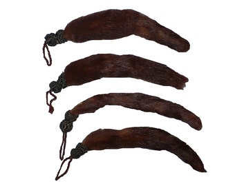 "6 1/2"" Victorian Mink Tail Fur Clasp Fur Loop Button"