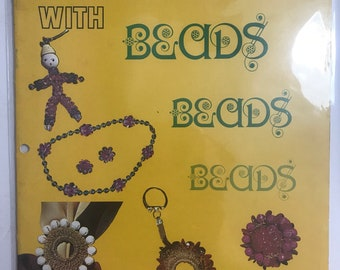 Beaded Jewelry Beading Fashion Fun Craft Projects DIY Book Vintage Craft Supply