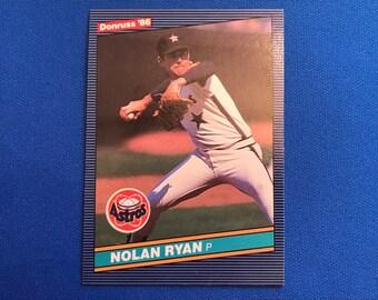 1986 Donruss #258 HOF Nolan Ryan Houston Astros Baseball Card Trading Card Vintage Sports Memorabilia Collectibles
