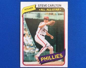 1980 Topps #210 Steve Carlton HOF Phillies Baseball Trading Card Vintage Sports Memorabilia Collectibles