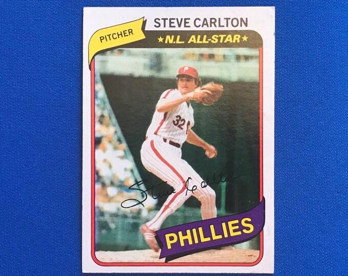 1980 Topps #210 Steve Carlton Phillies HOF Vintage Baseball Card