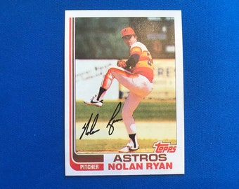 1982 Topps #90 Nolan Ryan HOF Astros Baseball Trading Card Vintage Sports Memorabilia Collectibles