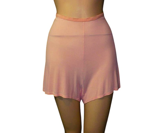 1930's 1940's Vintage Wartime Panties Pink Tap Pants Rayon