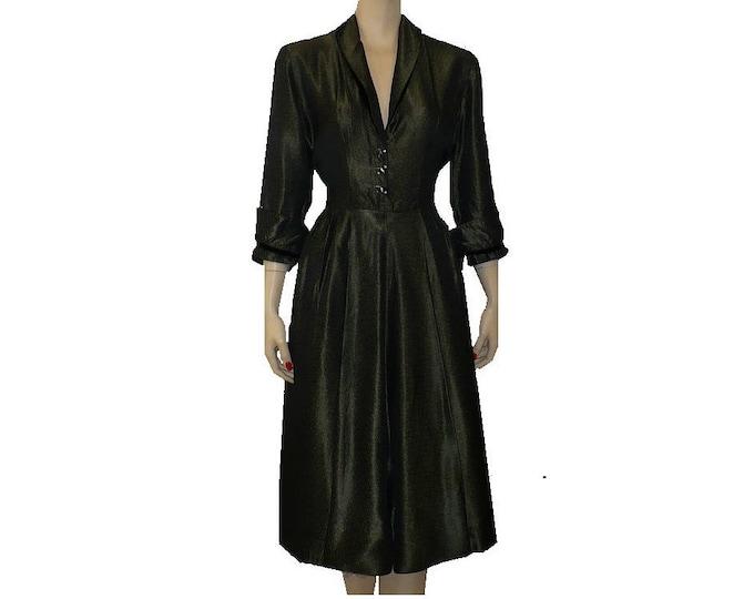 1950's Vintage Changeable Taffeta Dress