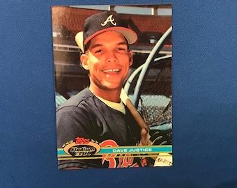 1999 Topps Stadium Club #26 Dave Justice Atlanta Braves Baseball Card Trading Card