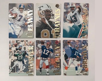 1995 Action Packed Quick Silver Football Card #14 #19 #21 #26 #28 #34 Trading Card Vintage Sports Memorabilia Collectibles