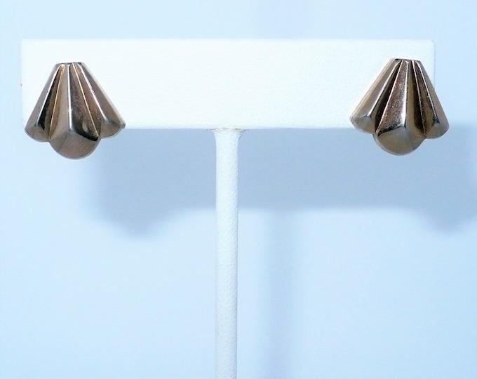 """1940's Vintage Art Deco Screw Back Earrings """"Jaycraft"""""""