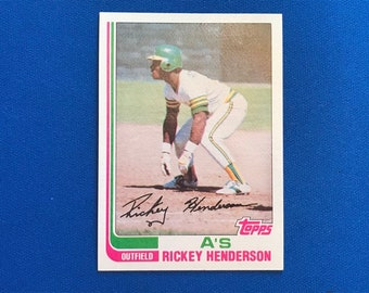 1982 Topps / #610 / Rickey Henderson / A's Oakland Athletics / Hall of Fame / HOF / Vintage Baseball Card / Get Lucky Vintage