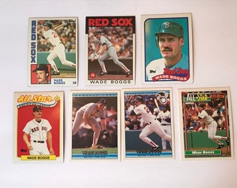 Lot Wade Boggs  / Hall of Fame / HOF / Vintage Baseball Card / Get Lucky Vintage