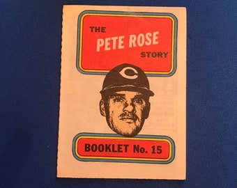 1970 Topps Booklet / #15 / Pete Rose Story / Hall of Fame / HOF / Vintage Baseball Card / Get Lucky Vintage