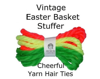 Easter Basket Stuffers July 4th Holiday Bundles Vintage Yarn Hair Ribbons Ties Birthday Party Favors
