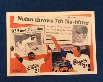 1991 Upper Deck #SP2 Nolan Ryan Rickey Henderson HOF Baseball Trading Card Vintage Sports Memorabilia Collectibles