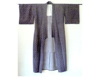 Men's Wool Kimono Vintage Kimono Robe
