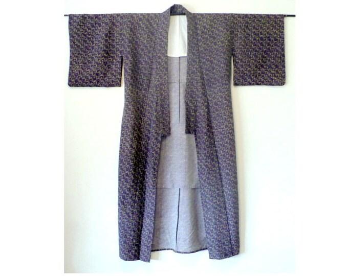 1940's Vintage Men's Wool Kimono Vintage Long Robe