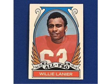 1972 Topps #283 All-Pro Willie Lanier Highlights of 1971 Football Card Trading Card Vintage Sports Memorabilia Collectibles