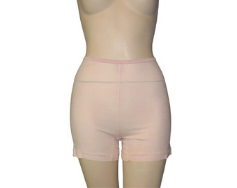 Vintage 1930's 1940's Wartime Undies Peach Panties Locknit Rayon Pettipants XSmall Get Lucky Vintage