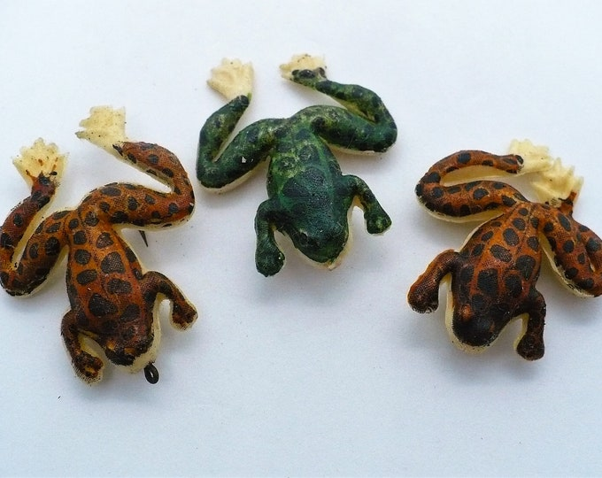 Fishing Lures - Three Vintage Frog Lures