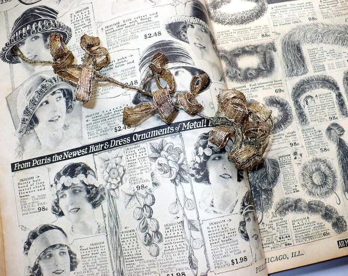 1920's Antique Genuine Silver Headpiece Hair or Dress Ornament Downton Abbey