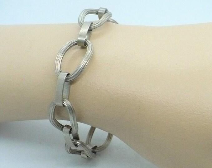 Artisan Link Sterling Silver Bracelet Vintage Jewelry