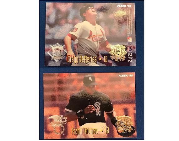 1995 Fleer All Stars 2 Of 25 Frank Thomas Gregg Jefferies Cardinals White Sox Baseball Card Trading Card