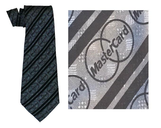 Silk MasterCard Logo Necktie 1980's Vintage Tie