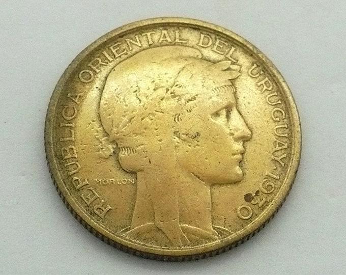 Uruguay 1830 1930 10 Centésimos 100th Anniversary from Constitution Pledge Coin