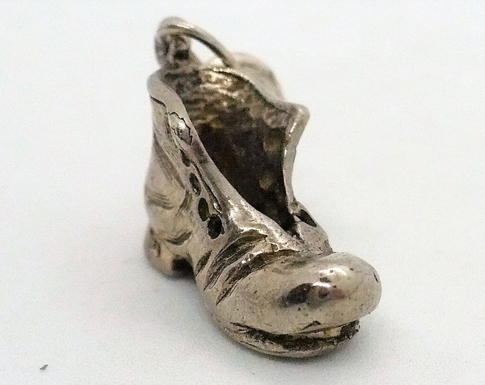 Bum's Boot Vintage Silver Shoe Charm