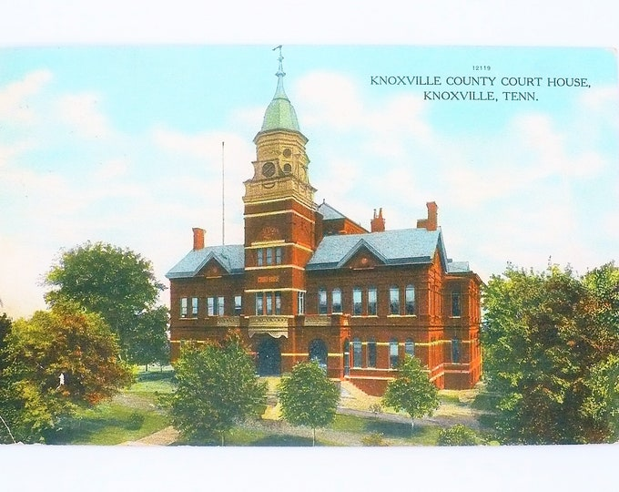 1908 Knoxville County Court House Knoxville Tennessee Vintage Postcard Posted