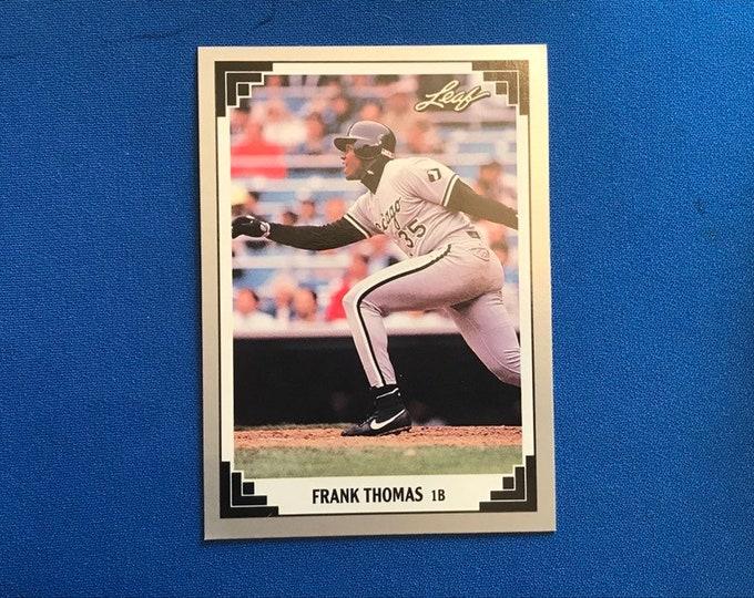 1991 Leaf #281 Thomas White Sox HOF Vintage Baseball Card